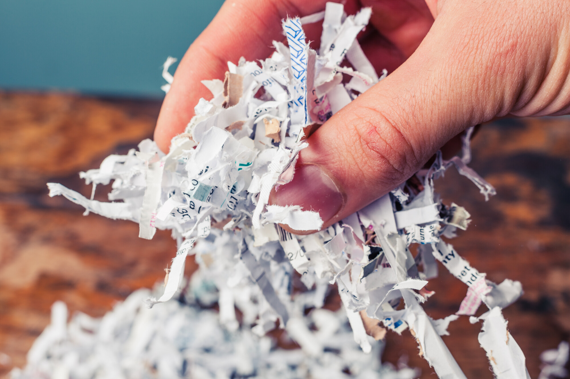 shred personal documents